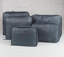 5Pcs Clothes Underwear Socks Packing Storage Bag Travel Luggage Organizer Gray