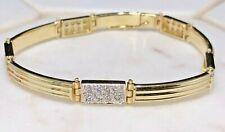 14ct Yellow Gold CZ Bracelet