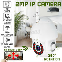 5X Zoom Waterproof WiFi PTZ Pan Tilt 1080P HD Security IP IR Camera Night I !