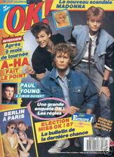 OK 580 (23/2/87) A-HA BERLIN PAUL YOUNG MADONNA
