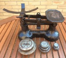 Vintage Black Cast Iron Weighing Scales Kitchen Balance Imperial Avery Weights