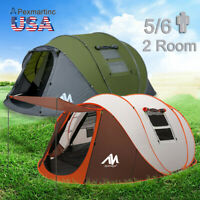 Large 5 Person Instant Pop Up Tent Family Travel Camping Double Layer Waterproof