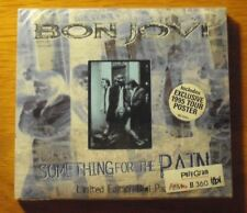 Bon Jovi Something For The Pain Limited CD 4 Tracks Incl 1995 Tour Poster Seal