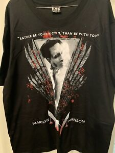 Marilyn Manson Rather Be Your Victim Band Rock Metal Punk T Shirt Size XL