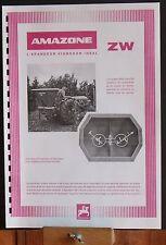▬► Prospectus Epandeur Vigneron ZW AMAZONE tracteur someca massey