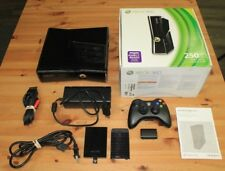 Xbox 360 250 Gig Slim Console Bundle Tested and Working w/ 6 Games