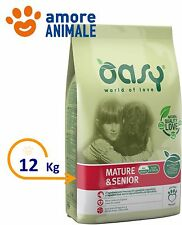 Oasy Dog Mature & Senior 12 Kg - Alimento crocchette per cane cani adulti