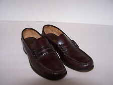 Men's Burgandy Sebago Hand Sewn Penny Loafer Leather Shoes Size 7 Narrow to Med
