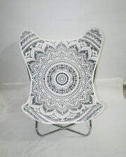 *BRAND NEW* BEAUTIFUL BUTTERFLY CHAIR GENUINE CANVAS METAL CHAIR MANDALA GREY