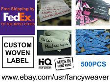 500pcs Custom Artwork Clothing woven Labels/ Sewing/ Stitching/ Craft/ Handmade