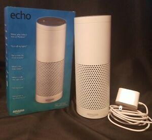 Amazon Echo Bluetooth Wi-Fi Smart Speaker with Alexa 1st Generation White