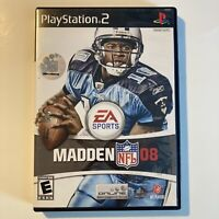 Madden NFL 08 PS2 Sony PlayStation 2 Football Video Games Complete & Tested