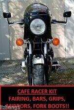 GL500 CX500 CAFE RACER KIT FAIRING CLUBMAN BARS GRIPS BAR END MIRRORS FORK BOOTS