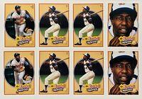 (8) Hank Aaron 1991 Upper Deck Baseball Heroes Baseball Card Lot