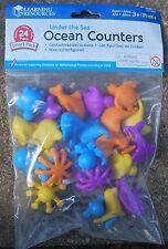 Preschool  resource OCEAN creature COUNTERS (24)  sea maths sorting / colours