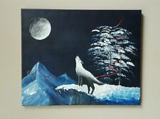 Moonlight Cry Original  16x20 Acrylic on stretched canvas