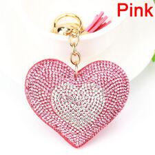 Coeur cristal strass pendentif porte-clés porte-clé porte-clefs Z LC