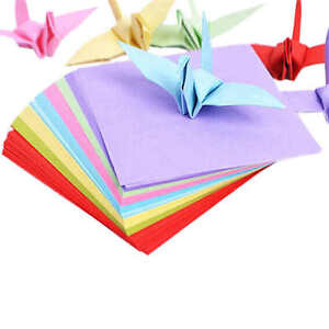 Double Sided Colored Paper Assorted Colors Origami Square 1 Pack 7.5/9.5/15cm