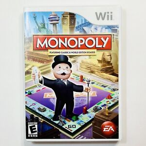 Monopoly Nintendo Wii Complete CIB Tested Free Ship