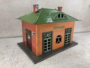 Vintage Tin Lionel Pre-War Train Town Station House