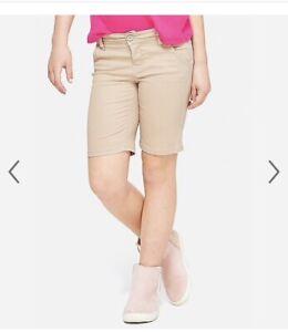 NWT Justice Khaki Uniform Bermuda Shorts Many Sizes NWT Multiple Sizes