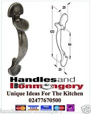 Handles for Kitchen Cabinet Doors Ornamental Latch Style 64mm H/C Pewter Finish