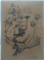 Drawing by Pablo Toscano, 1978. Untitled Original Signed. Cuban Art