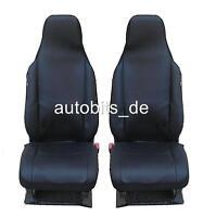 2 vordere Sitzbezüge Schonbezüge Kunstleder schwarz Neu Hochwertig