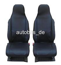 NERO-Blu Coprisedili In Velour Per Peugeot 106 AUTO RIVESTIMENTO ANTERIORE