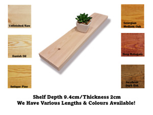 Wall Shelf Made From Redwood Pine 9.4cm Deep Handmade Handcrafted Rustic