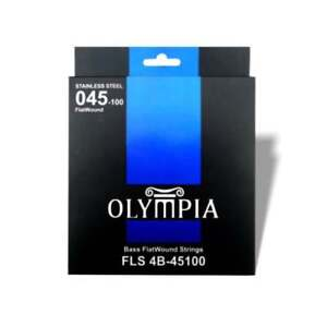 45-100 Flatwound Bass Guitar Strings Stainless Steel Set Olympia RRP £24.99