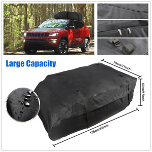 Universal Car Roof Top Bag Rack Cargo Carrier Luggage Storage Box Travel Touring
