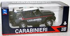 MODELLINO LAND ROVER CARABINIERI 112 - NUOVA SCALA 1:32 NEW RAY TOYS 55003