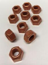 10x Sicherungsmutter Kupfer Auspuff Mutter M10 x 1.5 SW17 ISO7042 NEU