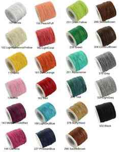 Waxed Cotton Cord 1mm,1m-84m Jewellery Making&Bracelet Necklace Craft✅FASTPOST🚚