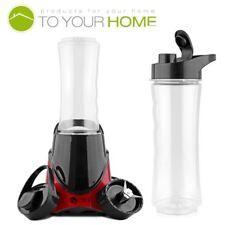 Dihl 700ml Red Smoothie Maker Blender Juicer Shakes Processor Active Fit Bottle