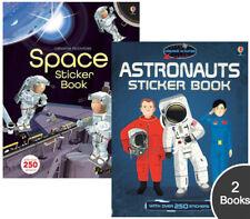 Usborne Astronauts & Space Sticker Books (pb) 500+ stickers outer space fun NEW