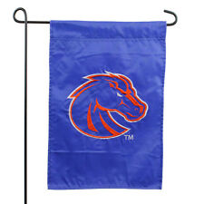 Boise State University Applique Garden Flag NCAA College Broncos Buster