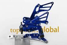 Rearset Footpegs Rear set FOR Honda CBR1000RR 2008-2014 Blue CNC Adjusting
