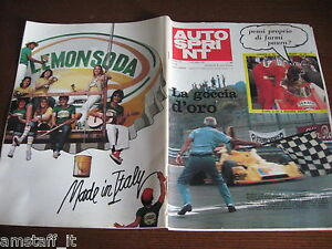 AUTOSPRINT 1976/29=GP F2 MUGELLO JOBOUILLE=PUBBLICITA' LEMONSODA=