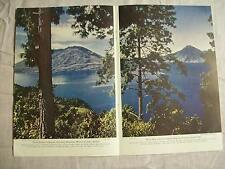 1947 Magazine Page Photo Lake Atitlan Extinct Volcanoes Vintage Photography