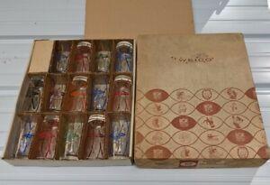 RARE Vintage 1960s NFL Football Hedy Glass Set Box 14 Glasses Rams 49ers Eagles+