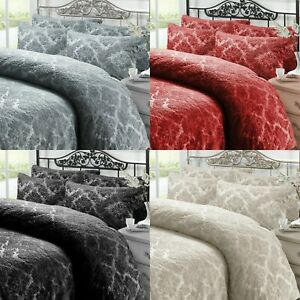 Embossed Teddy Fleece Duvet Cover Bedding Set Quilt Cover With Pillow Cases