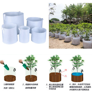 Round Fabric Pots Root Container Grow Bag Plant Pouch Aeration Container 5 Sizes
