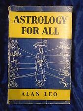 ASTROLOGY FOR ALL by ALAN LEO - D B TARAPOREVALA SONS 1971 - P/B - UK POST £3.25
