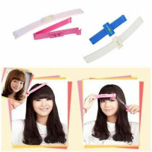 1Set DIY Professional Bangs Hair Cutting Clip Hairstyle Trim Tool Hair Ruler UK