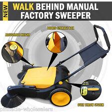 Industrial Manual Walk Behind Floor Factory Sweeper 40l Capacity Storage
