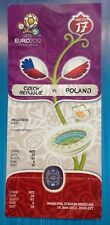 Football EURO 2012 in Poland  ticket CZECH REPUBLIC - POLAND in Wroclaw