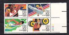 v1644 USA/ Olympia 1984  MiNr 1622/25 A  Rf III  ** Viererblock