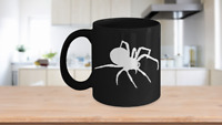 Spider Mug Black Coffee Cup Funny Gift for Creepy Halloween Sense Arachnology
